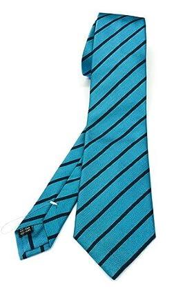 Real Luxury Napoli Corbata de regimiento, de 3 pliegues, de seda ...