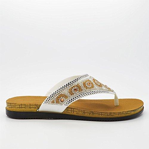 à femme Footwear Ouvertes Blanc l'arrière blanc London S0pxwTfnS