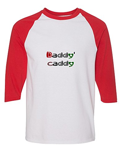 daddys-caddy-golf-golfer-raglan-kids-t-shirt-toddler-baseball-tee-white-red-6t