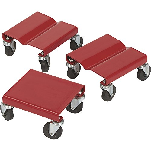 Ironton Snowmobile Dollies - Set of 3, 1500-Lb. Total Capacity
