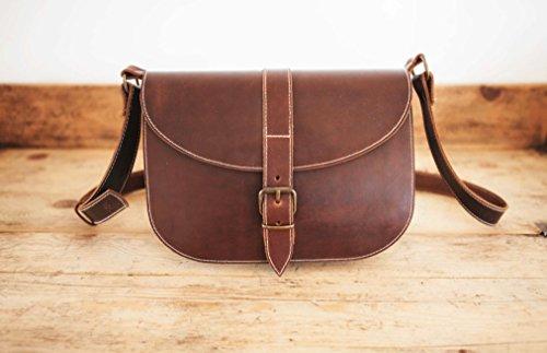 Brown Leather MESSENGER BAG, Messenger Leather bag, Brown messenger bag, Cowhide leather shoulder bag, Leather satchel, leather bag purse by KURTIK
