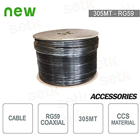 setik - Bobina de Cable coaxial 305 Metros RG59 CCS - setik ...