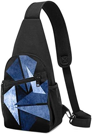ボディ肩掛け 斜め掛け 三角形 幾何学模様 ショルダーバッグ ワンショルダーバッグ メンズ 軽量 大容量 多機能レジャーバックパック