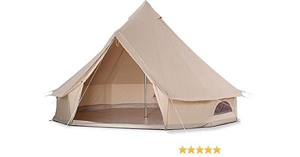 Cozy House Bell Tent Impermeable Bell Tienda de campaña con Suelo con Cremallera