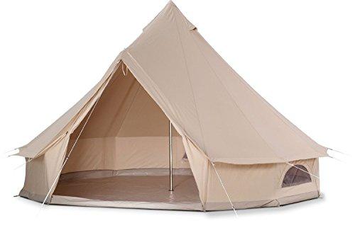 🥇 Cozy House Bell Tent Impermeable Bell Tienda de campaña con Suelo con Cremallera