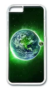 MOKSHOP Adorable Green Dream Space Hard Case Protective Shell Cell Phone Cover For Apple Iphone 6 Plus (5.5 Inch) - PC Transparent