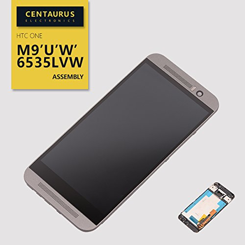 New for HTC One M9 M9U M9W HTC6535LVW Touch Screen Digitizer LCD Display Frame Replacement Gray US