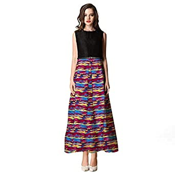 24f7fbe873 GPLUS Cotton Designer print gown  Amazon.in  Clothing   Accessories