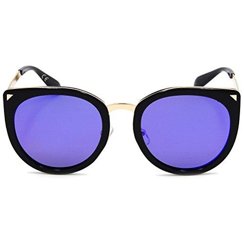 AMZTM - Lunette de soleil - Femme Bleu