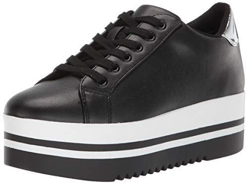 (Steve Madden Women's Alley Sneaker, Black, 6 M US)