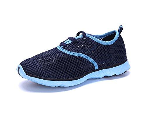 Kids Water Sneakers Shoes - Waterproof Watershoes Unisex Toddler/Little Kid/Big Kid Navy/Aqua