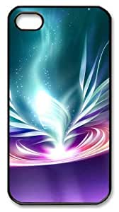 brand new iphone 4 cases Colorful glare PC Black for Apple iPhone 4/4S