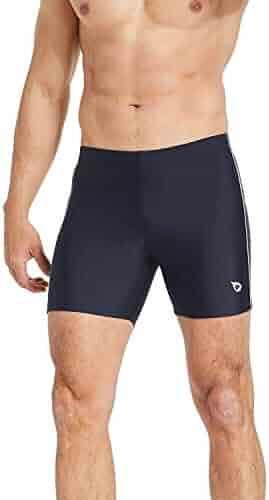cd5f89159c Baleaf Mens' Athletic Swim Jammers Quick Dry Compression Square Leg Swim  Brief Swimsuit