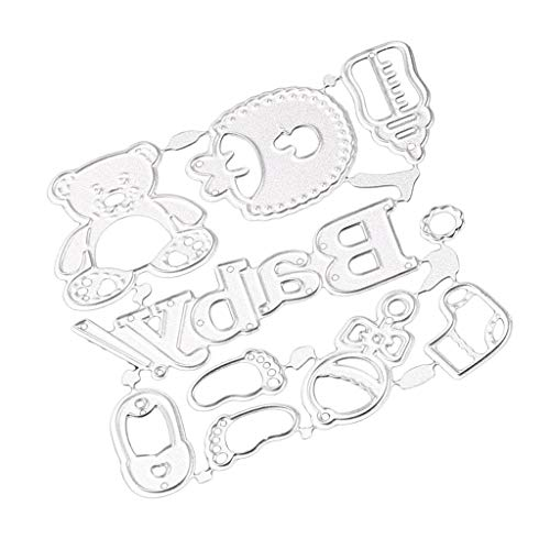 Baby Shower Die Cut - MagiDeal DIY Baby Accessories Metal Cutting Dies Stencils Template Mould for DIY Scrapbook Photo Album Paper Craft Baby Shower Card Making