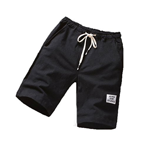 Clearance! Balakie Mens Beach Trunks Sports Breathable Gym Fitness Board Shorts Pants (Black, XL)