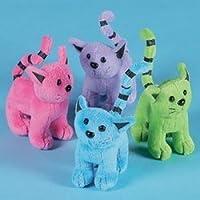 Assorted Plush Cats (1 dozen) - Bulk
