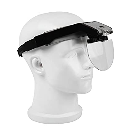 Head-Wearing lupa con 2 LED Lupa Visor Lupa manos libres para close up trabajo