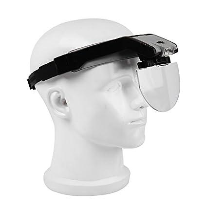 Head-Wearing lupa con 2 LED Lupa Visor Lupa manos libres para close up trabajo
