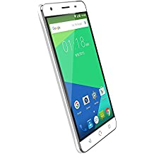 """NUU Mobile N5L 5.5"""" HD Dual LTE SIM Android Lollipop Smartphone with 2YR Warranty, White"""