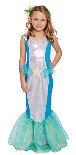 Glossy Look Big Girls' Little Mermaid Princess Costume World Book Day Costume Medium (Ages 7-10) Light (World Book Day Costumes)