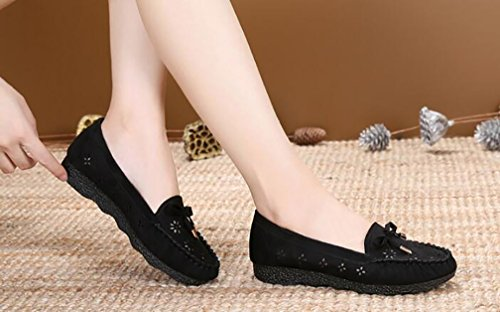Lightweight Black Shoes YVWTUC Ladies aged Middle Walking Cozy Casual Summer fn6tqnW