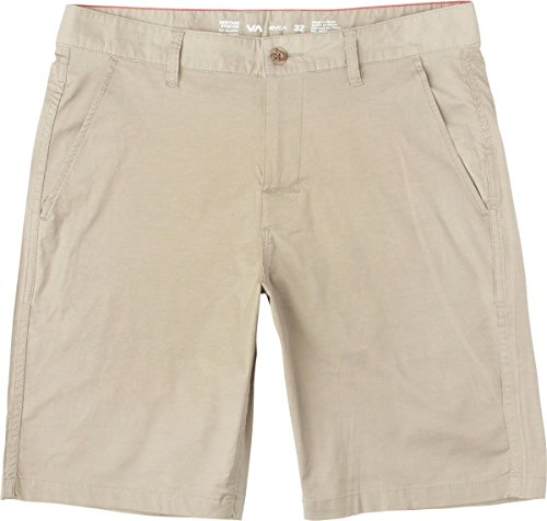 RVCA Men's Week-End Hybrid II Short, Dark Khaki, - Best Tri Shorts