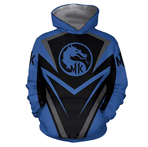 Scorpion Sub-Zero Hoodie Cosplay Costume T-Shirt Sweatshirt Pullover Hooded (S, Mortal Kombat 3)]()