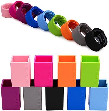 PracticOffice Fucsia Flessibile e Resistente Colore Portamatite in Silicone Ultra Morbido