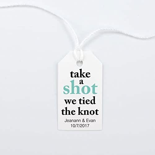 Amazon.com: Take a Shot We Tied the Knot, Wedding Favor Tag ...