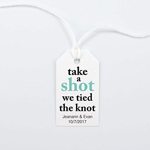 Amazon Take A Shot We Tied The Knot Wedding Favor Tag