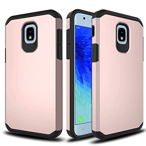 Alcatel TCL LX A502DL Case, Alcatel IdealXTRA 5059R, 1X Evolve (2018) Phonelicious Hybrid Dual Layer Tough Phone Cover (Rose Gold)
