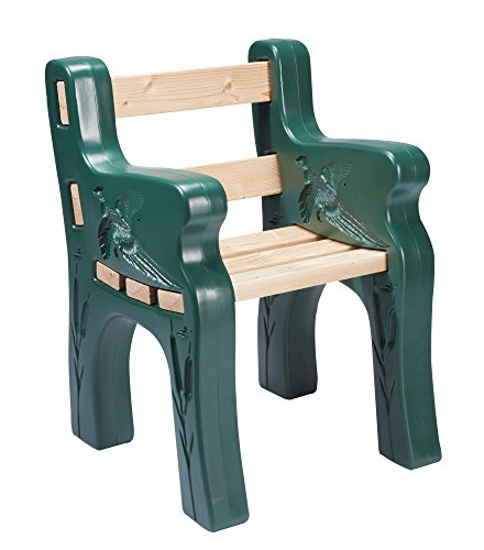 Sporty's Park Bench Kit Comfortable Lightweight Maintenance Free UV Protected (Bench Garden Kit)