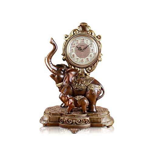 MUZIWENZI Europeo Reloj de Mesa Mesita de Noche Elefante Reloj ...