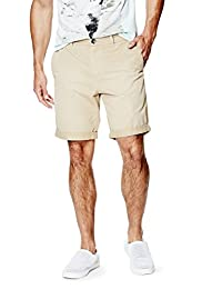 GUESS Factory Summery Flat-Front Classic-Fit Shorts