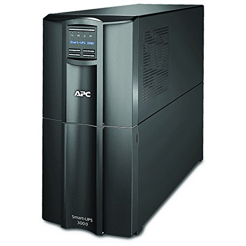 APC 3000VA Smart-UPS with SmartConnect, Pure Sinewave UPS Battery Backup, APC Smart-UPS Uninterruptible Power Supply (SMT3000C) 3000va Ups Battery