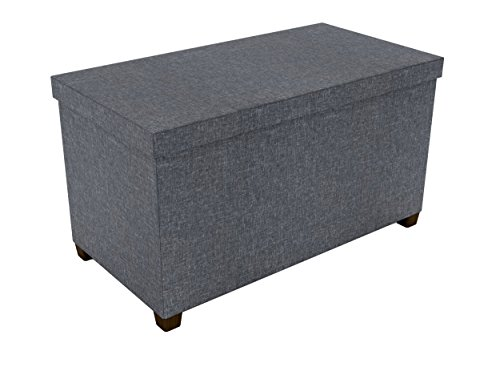 (dar Living Storage Ottoman 17x34, Dark gray )