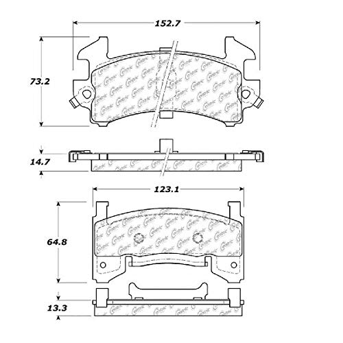 (OE Replacement for 1978-1987 Oldsmobile Cutlass Salon Front Disc Brake Pad Set (442 / Base / Brougham / Hurst) )