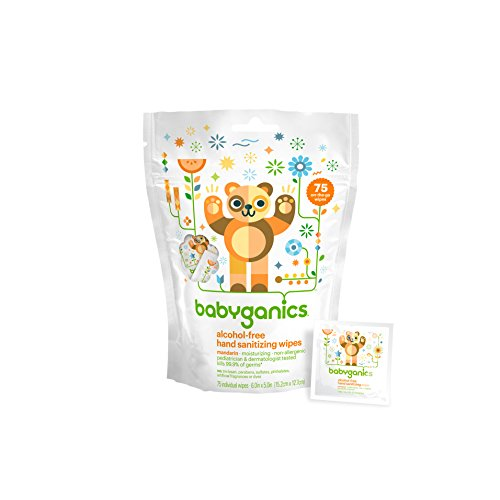 Babyganics Alcohol-Free Hand Sanitizing Wipes, Mandarin, 75 Count