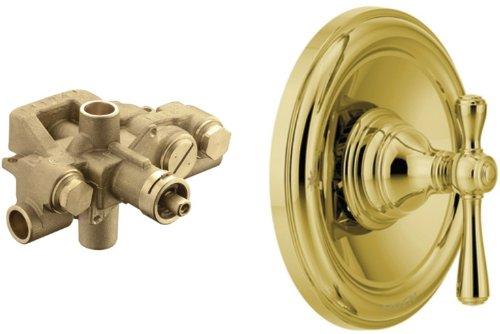 Moen T3111P-3520 Kingsley Moentrol Tub/Shower Valve Trim Kit with Valve, Polished Brass by Moen