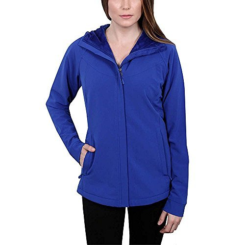 Kirkland Signature Ladies' Water-Repellent Wind Resistant Softshell Jacket (Small, Cobalt) Fleece Lined Water