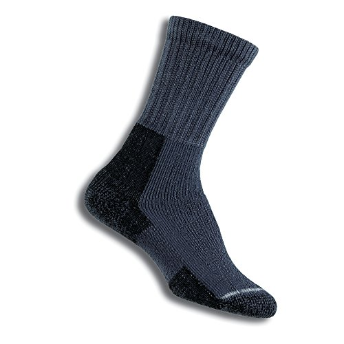 Thorlos Women's  KX Hiking Thick Padded Crew Sock, Slate Blue, Large