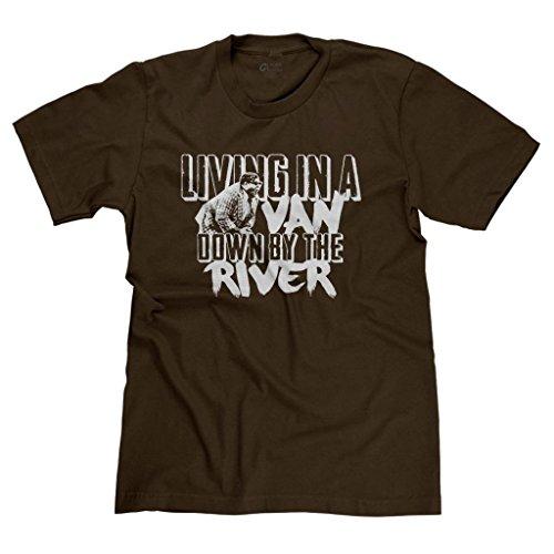 (FreshRags Living in a Van Down By the River SNL Men's T-shirt Brown 4X)