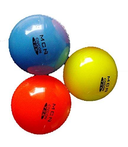 arnav Practice Soft Wind Cricket Ball Three Florance Colours Set of 3 PCS