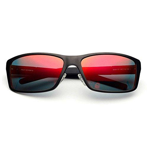 Protección KOMEISHO día Padre Aluminio UV Brillante ambulantes Sol para Tonos Marco del polarizadas TAC de Rojo diseñador Gafas Conducción del Regalo magnesio Hombres Sol Novedad de Lente y Gafas de rqpr4PaT