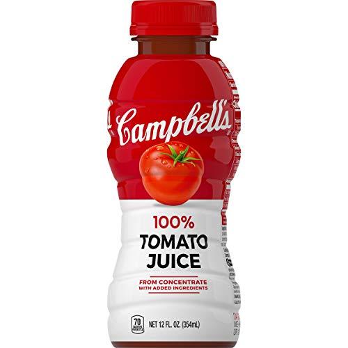 - Campbell's Tomato Juice 100% Tomato Juice, 12 Fluid Ounce