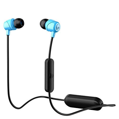 Skullcandy Jib Bluetooth Wireless In-Ear Earbuds with Microphone for Hands-Free Calls, 6-Hour Rechargeable Battery, Included Ear Gels for Noise Isolation, Blue