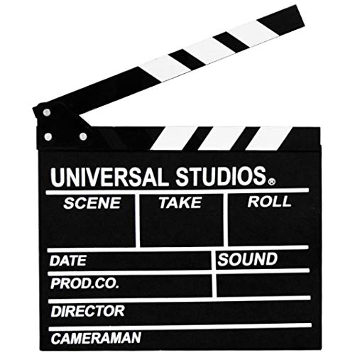 Wooden Director's Film Clapboard Cut Action Scene Clapper Movie Clapper Board (Black) -