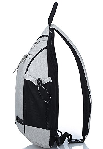 Biking School Bags Chest Bag Hiking For Gym Freemaster Sport Shoulder Body Backpack Rucksack Sling Cycling Camping Small white Cross v4va1wZq