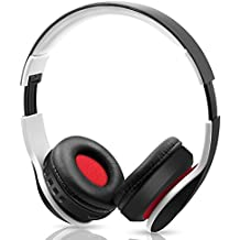 Hi-Fi Stereo headset, Wireless Bluetooth Headphones, Foldable, Built-in Microphone, Compatible with Phones/Tablet/Audio-Black