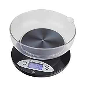 Digital Scale with Removable Bowl 11lbs / 5000g x 1g - Black [version:x8.6] by DELIAWINTERFEL